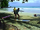 Surfing at Mount Irvine Beach Tobago